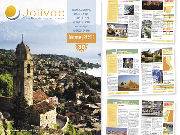 Catalog Brochure Design Travel Agency Montreal LA 90025 Jolivac